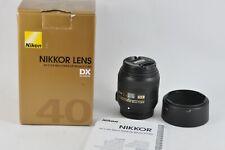 Nikon AF-S DX Micro Nikkor 40mm F2.8G Macro lens UK Seller Boxed