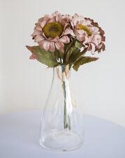 VINTAGE SOIE ARTIFICIEL tournesol rose sombre 6 têtes décor de Mariage bouquets