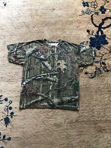 Mossy Oak Camo women's Camouflage Hunting T-Shirt Breakup Infinity Size XL