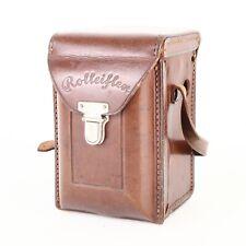 :Rolleiflex Original Leather Camera Case for Automat - Script Logo - Intact!