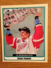 Lot of 61 Sergei Fedorov Red Wings Capitals Ducks hockey cards inserts +