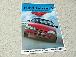 "1990 AUSTRALIAN FORD FALCON ""S"" SALES BROCHURE..."