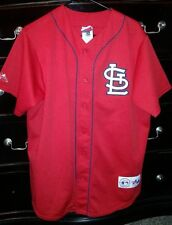 Vintage Majestic St Louis Cardinals Mark McGwire Button Up Baseball Jersey Med