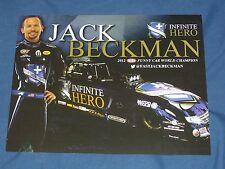 "2015 ""FAST"" JACK BECKMAN INFINITE HERO FUNNY CAR NHRA POSTCARD"