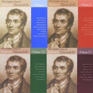 SONGS OF ROBERT TANNAHILL 1 2 3 4 CD scottish folk music poet burns bonnie scots