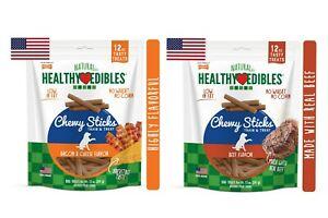 Nylabone Healthy Edibles Chewy Dog Treat Sticks12 oz Asst Flavor   Free Shipping
