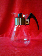 Corning Ware Heat Proof Clear Glass Coffee Carafe Tea Pitcher with Lid 2 Cup
