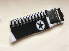 1 PAIR MENS SNEAKER NOVELTY SOCKS * LIKE AN OLD FASHIONED SNEAKER * BLACK * NWT