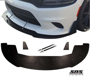 FRONT SPLITTER+WINGLETS&2 SUPPORT RODS 15-20 CHARGER SRT392, Scatpack, HELLCAT