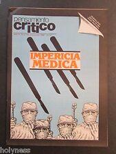 VINTAGE MAGAZINE / PENSAMIENTO CRITICO / PUERTO RICO / MAY / JUN 1986 / #49