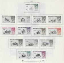 7 Falkland Islands Stamps from Quality Old Antique Album 1960