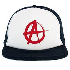Cappello Anarchy Punk Rock, Trucker Cap blu-bianco con logo Anarchia, musica