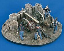 Verlinden 54mm 1/32 Union 12-Pounder Gun Emplacement Civil War w/4 Figures 2064