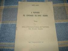 1960 MARIO MAIURI UNITA' D'ITALIA LETTERA AL DIRETTORE DEL MATTINO G.ANSALDO