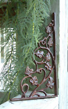 TWO IVY BRACKETS Iron Cast  Wrought Garden Fence