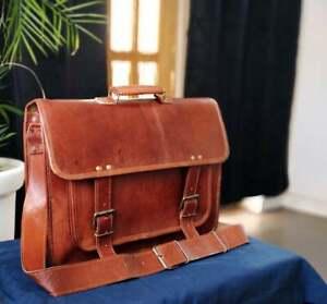 Handmade Rustic Leather Messenger Laptop Briefcase Satchel Shoulder Sling Bag