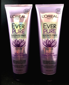 x2 L'Oreal Ever Pure LOTUS Volume Conditioner Sulfate Free 8.5oz ea (PACK OF 2)