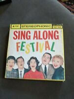 SING-ALONG FESTIVAL KIRBY STONE 4 SPORTSMEN STEREO REEL TO TAPE 4 TRACK 7 1/2