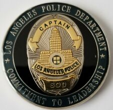 LAPD LA Police Department Captain SOD Special Operations Division CA Coin