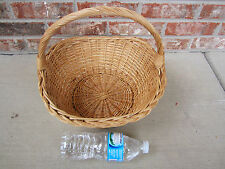 Brown Basket w/ Handle Wicker Wood Woven Crafts Garden Home Decor Floral Gifts