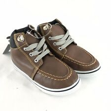 GX Toddler Boys Boots Lace Up Faux Leather Brown Size 8
