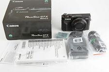 CANON PowerShot G7 X Mark II Digitalkamera Schwarz 20,1 Megapi. 4,2x opt. Zoom