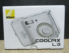 New Open Box Nikon Coolpix L3 5.1Mp Compact Point & Shoot Digital Camera Silver