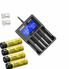 GlobalShipping-Combo: Nitecore I4 IntelliCharger w/4x NL1835HP Batteries +2x Fre