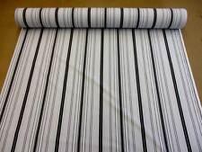 Stoff Meterware Baumwolle Streifen grau schwarz überbreit 280 cm breit Neu 2017