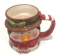 "Christmas Penguin Ceramic Coffee Mug Cup 3 x 4"" Tall"