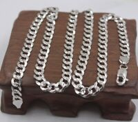 "925 Sterling Silver Layered CLASSIC CURB LINK NECKLACE CHAIN 4mm x 22/"" Unisex"