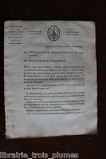 ✒ février 1798 Circulaire signée sur les CARTES à jouer (timbre) - autographe