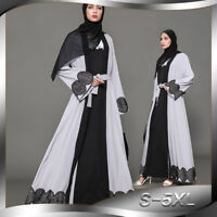 Abayas Women's Long Sleeve Muslim Islamic Maxi Dress Muslim Dress Kaftan Robe