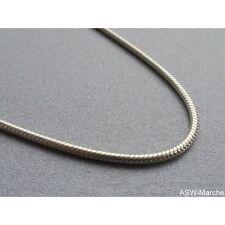 Schlangenkette ECHT 925 Sterling Silber Silberkette Halskette massiv rhodiniert