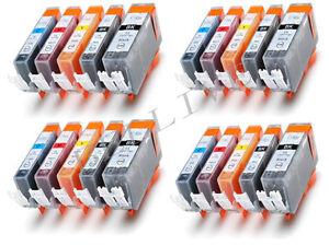 KIT 20 Cartucce per Canon CLI-521 PGI-520 PIXMA MP540 MP550 MP560 MP620 MP630
