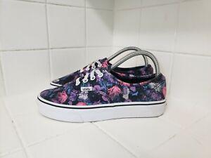 Vans Classic Lace Up Women's Casual Shoes Size 7.5 Floral