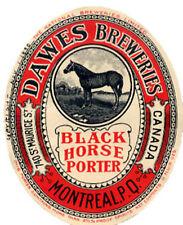 DAWES BREWING BLACK HORSE PORTER BEER LABEL T SHIRT MONTREAL CANADA SM-XXXL