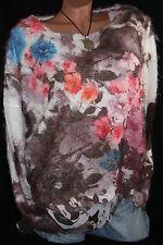 Winka Pullover(Natur Mix) 46 48 Feinstrick Plüsch Damen Tunika Übergröße