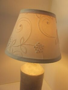 Vintage cloth fabric lampshade canvas cream floral flower pattern