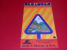 COLL.J. LE BOURHIS AFFICHES Spectacles FRANCOIS BERANGER ca 1976 La Rochelle