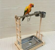 Parrot Cage Bird Stand Wood Parrot Stand Bird Train Stand Play Gym Center Toy