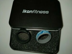 iKon fitness  Color Silicone Wedding Bands Ring workout pair