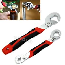 Multi-function Universal Quick Snap'N Grip Adjustable Wrench Spanner 2Pcs