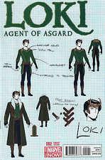 Loki Agent of Asgard #2 1:25 McKelvie Design Variant Marvel 2014 ANMN