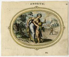 Antique Print-CUPID-HOPE-LOVE-NOURISHMENT-SUCKLING-Veen-1608