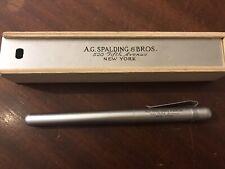 AG SPALDING & BROS Penna Stilografica Alluminio Anodizzato Vintage, Nuova