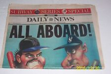 2000 NEW YORK Daily News SUBWAY SERIES Mets PIAZZA Yankees JETER Yanks CLINCH IT