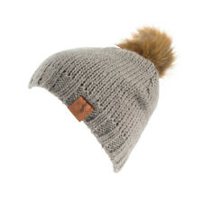 Horze Knitted Woolly Bobble Hat Beanie Warm Ladies Fleece Lined