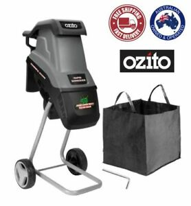 Ozito 2400W Rapid Electric Garden Shredder Mulcher Wood Chipper Machine