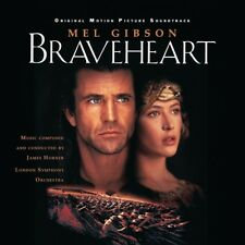 BRAVEHEART - MUSIC FROM MOTION PICTURE (SOUNDTRACK BY J.HORNER)  2 VINYL LP NEW